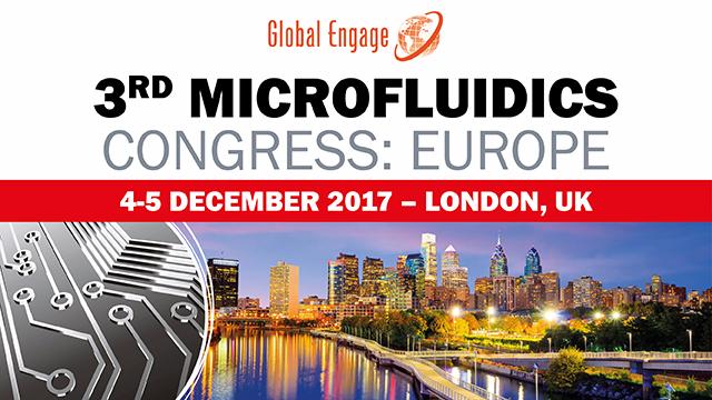 L'équipe de LASEA sera présente au 3ème congrès sur la microfluidique à Londres les 4 et 5 décembre 2017